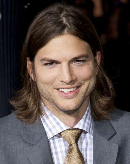 ashton kutcher long length hairstyle