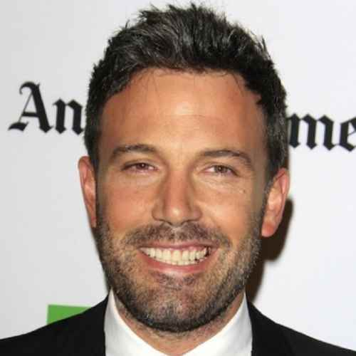 ben affleck short length messy hair