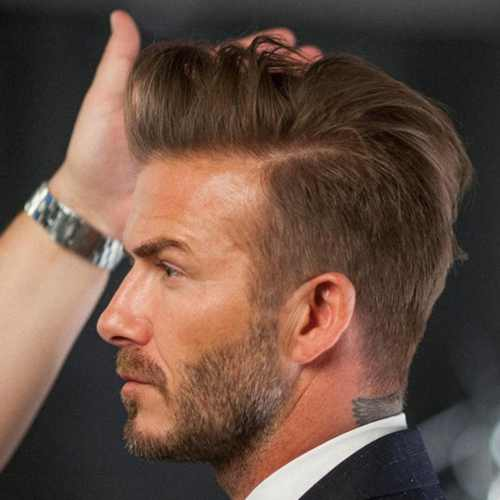 david beckham haircut with pompadour hairstyle