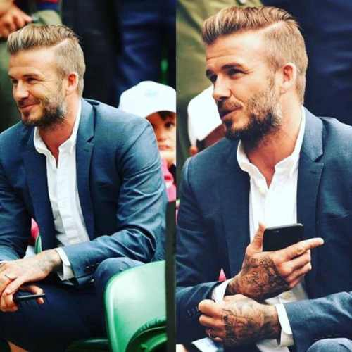 david beckham in public hairstyle