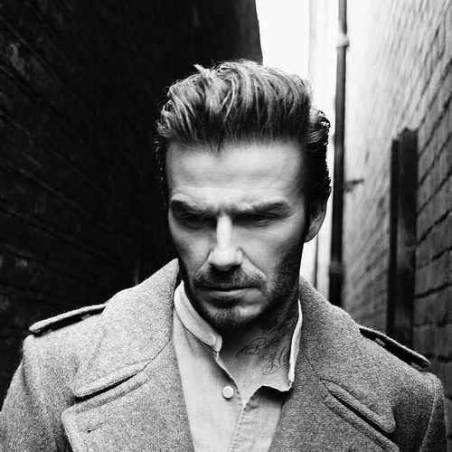 david beckham long hairstyle with comp over pomp