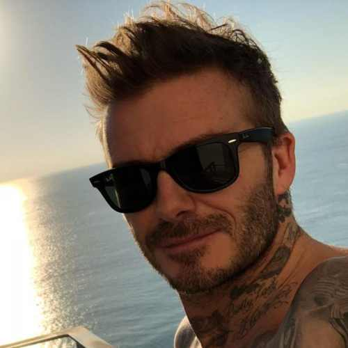 david beckham medium length messy haircut