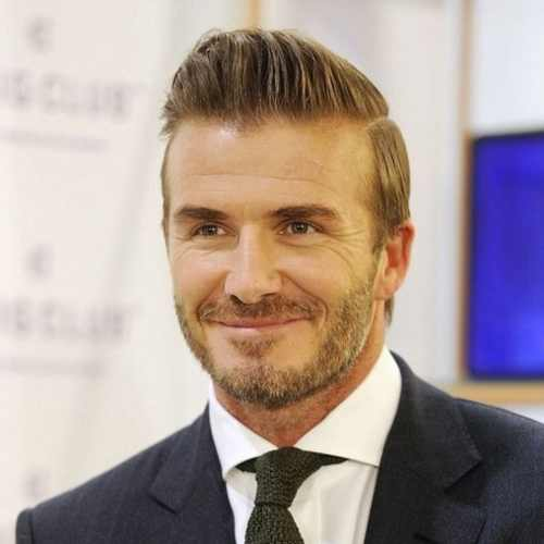 david beckham short comb over pompadour haircut