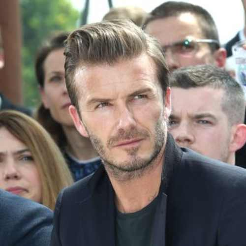david beckham short faux hawk hairstyle