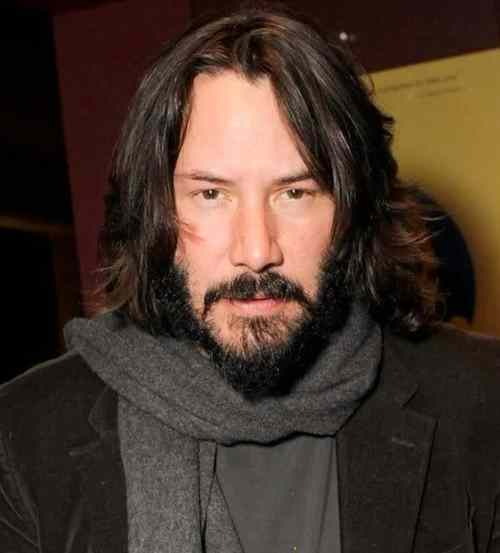 keanu reeves long layered hairstyle