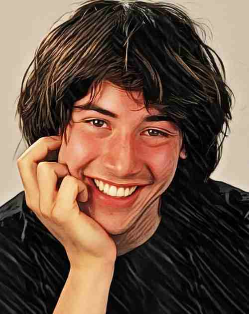 keanu reeves young hairstyles