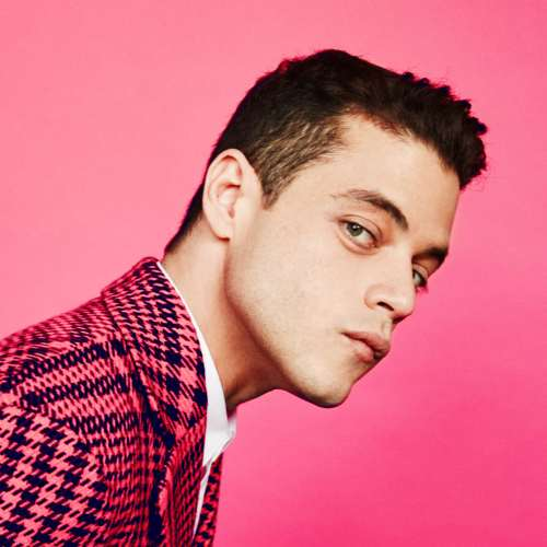 rami malek haircut new
