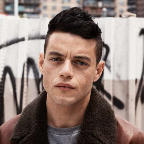 rami malek high fade haircut