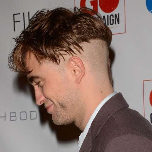 robert pattinson crazy haircut blad cut