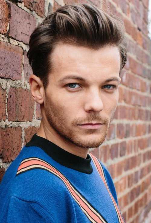 Louis Tomlinson Hairstyle 2018 short pomp comb over
