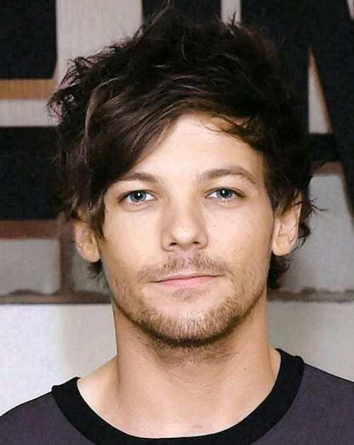 Louis Tomlinson medium length haircut 2015