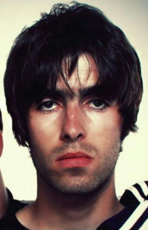 liam gallagher messy length hair