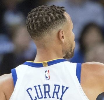 Stephen Curry Dreads with high taper fade bald haircut