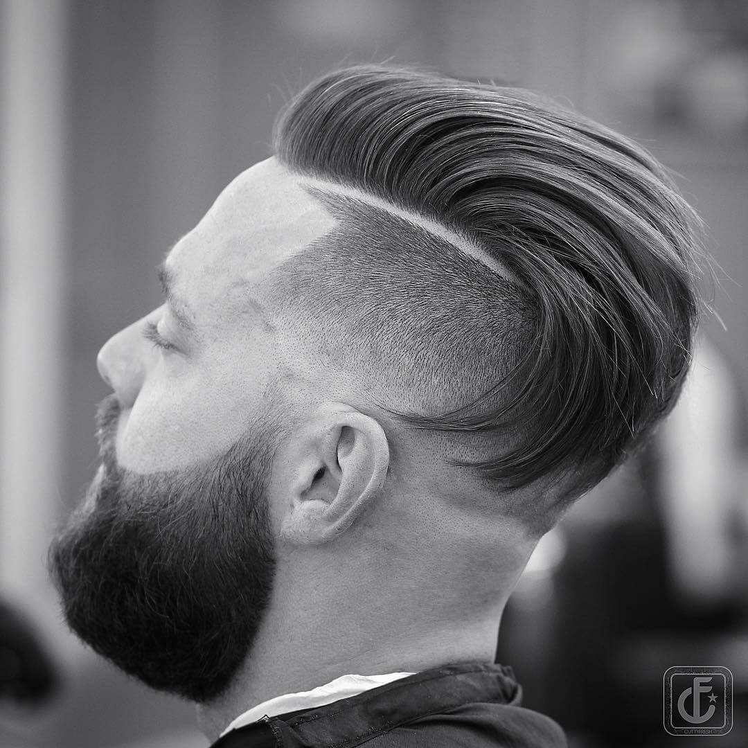 cuttyfresh comb over fade high undercut fade hairstyle
