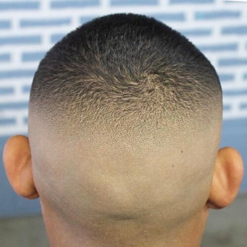 high buzz cut high bald fade hairstyles back fade