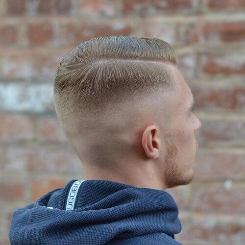high skin fade top with bald fade haircut