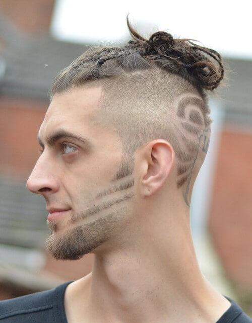 high skin side part haircut bald fade design hairstyle