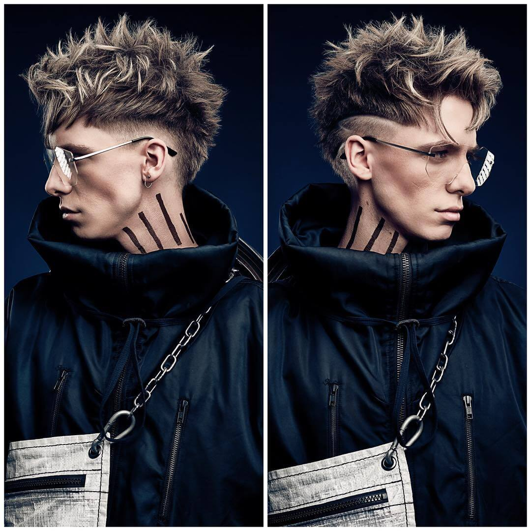 r.braid spikes undercut fade taper fade haircut
