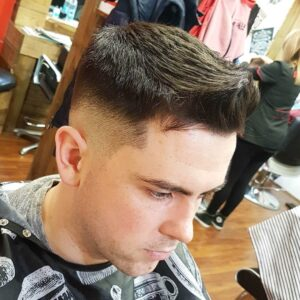 t.w.of.a teen short hairstyle side part bald fade latest haircut