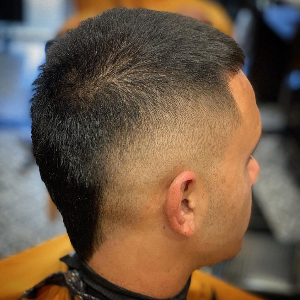 thechiefcuts bald fade with mohawk fade style