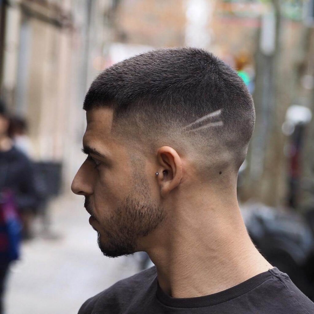ambarberia buzz cut short hair with low fade mid haircut