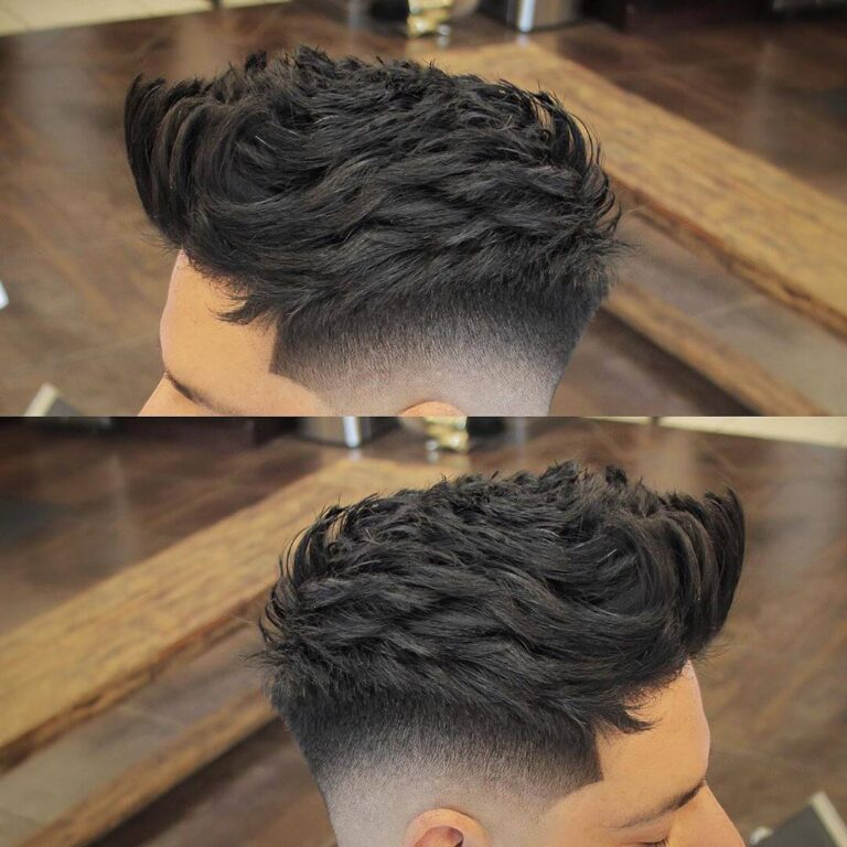 itsclipperovercomb modern fade hairstyle messy spikes fade shadow