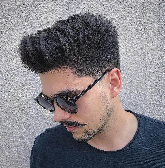 seuelias stylish mustache short spiky puff hairstyle fuck boy hairstyles