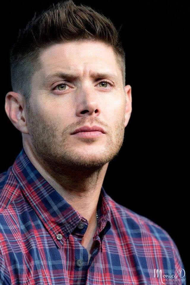 Jensen Ackles short pomp hairstyle