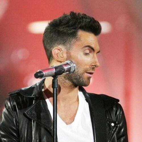 adam levine side part haircut