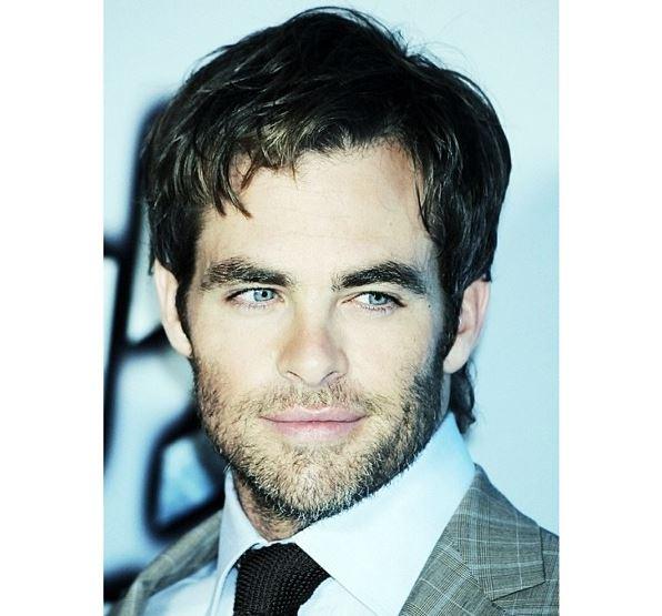 chris pine beard style