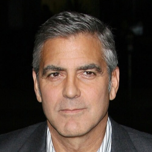 george clooney old hairstyle