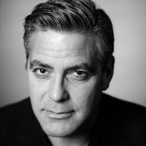 george clooney retro hairstyle