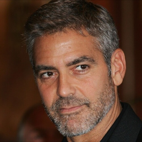 george clooney short haircut white hair