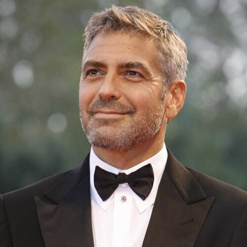 george clooney spiky hair