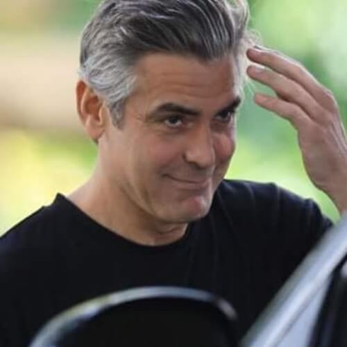 george clooney stylish young hairstyle