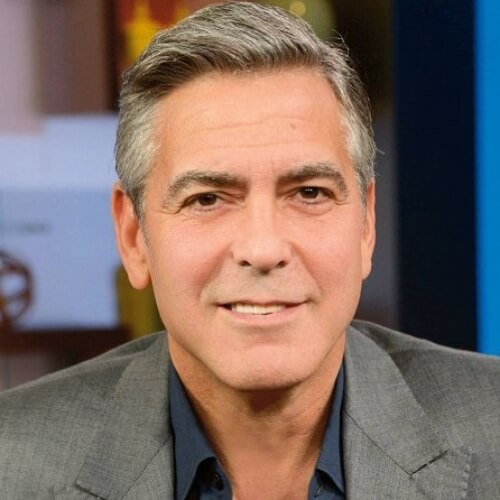 george clooney wavy combed hair