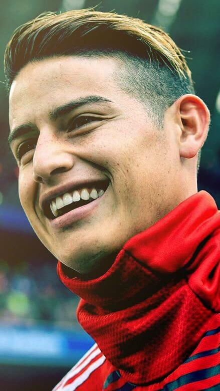 james rodriguez highlighted hairstyle design