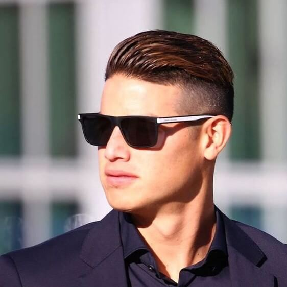 james rodriguez medium length slicked back haircut
