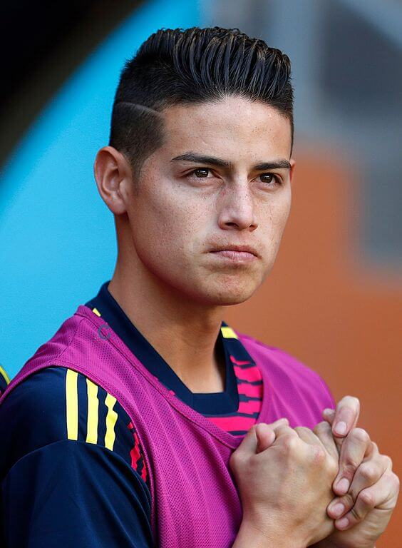 james rodriguez short comb pomp with razor cut