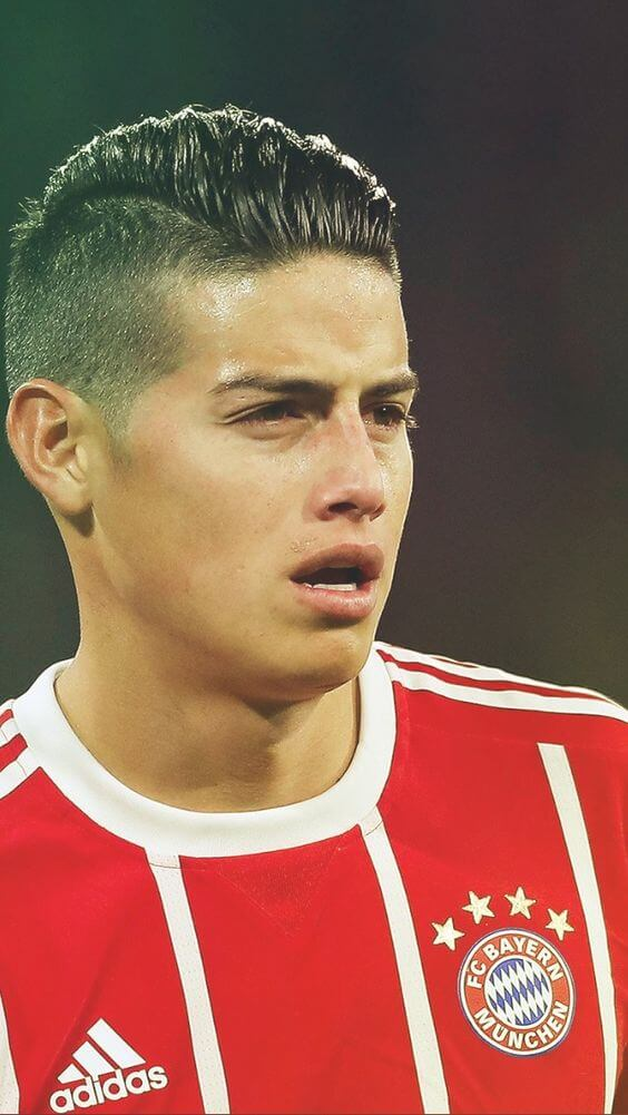 james rodriguez short pomp hairstyles