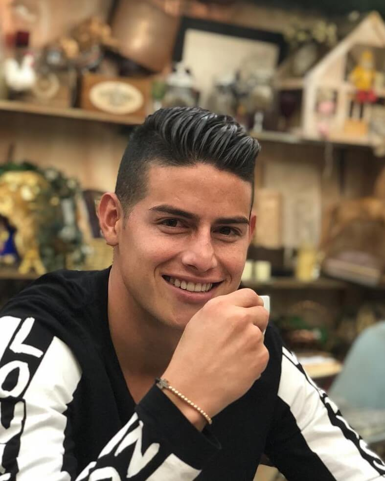 james rodriguez short pompadour haircut