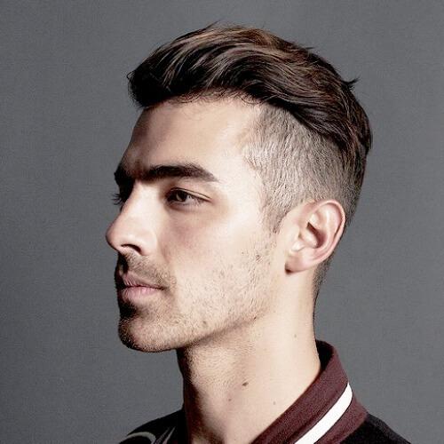 joe jonas short comb wavy hair