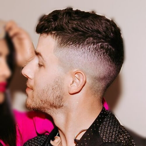 nick jonas hair taperfade