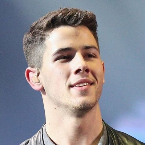 nick jonas low fade haircut