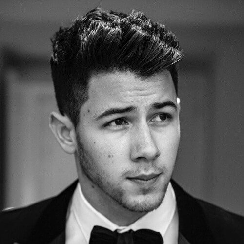 nick jonas retro modern hairstyle
