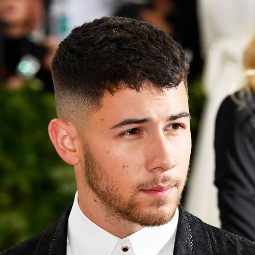 nick jonas undercut bald fade