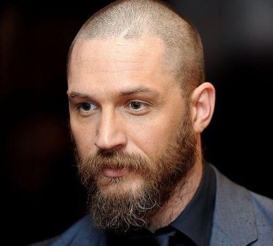 tom hardy bald and long beard