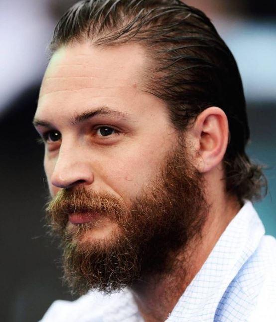 tom hardy long hair slicked back long beard