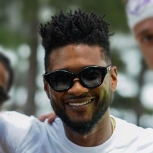 usher long hair
